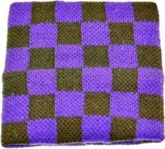 Zac's Alter Ego Zweetband Checkered Paars/Zwart