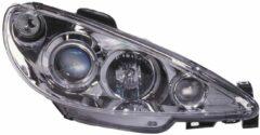 Universeel Set Koplampen Peugeot 206 1998-2002 excl. GTi - Chroom - incl. Angel-Eyes