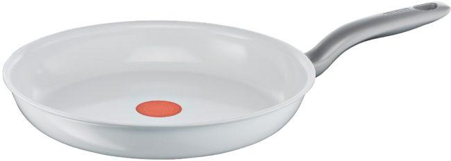 Afbeelding van Tefal Kookgerei Tefal Ceramic Control White Inductie Koekenpan 30cm