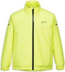 LYNX Move regenjas winddicht, met mesh binnenvoering, neon geel met reflectie, maat M