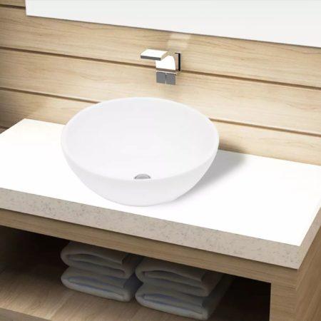 Immagine di Bianchi VidaXL Lavandino da bagno in ceramica bianca rotondo