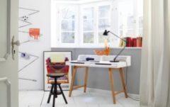 Baidani Designer Schreibtisch Dafna matt weiß lackiert mit Schubfächern