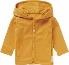 Noppies baby reversible vest Bonny okergeel/donkerblauw