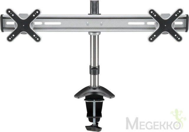 Afbeelding van Goobay ScreenFlex Twin 2-voudig Monitor-tafelbeugel 33,0 cm (13) - 58,4 cm (23) Kantelbaar en zwenkbaar