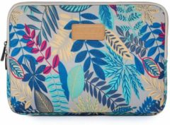 Blauwe Lunso Lisen - sleeve hoes 15 inch - Tropical wit