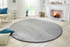 BT Carpets Vloerkleed Wolly Grijs 102840 BT Carpet Rond-[Afmetingen:200 cm]-[Afmetingen:200 cm]