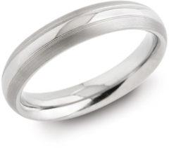 Zilveren Boccia Titanium Ring 1 lijn - 0131-01