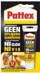 Witte Pattex Montagelijm - Geen Spijkers/Geen Schroeven - Montage lijm- 50 Gram