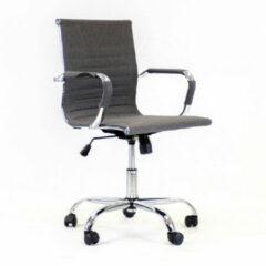 Antraciet-grijze Breazz Manhattan Low Fabric - Bureaustoel - Donkergrijs - stoffen zitting met chroom onderstel