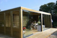 Woodvision Glazen schuifwand t.b.v. Urban Living Excellent | 500 | Zijde 350 cm