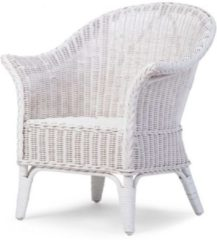 Witte Childhome CHILDWOOD - MIMO KID WICKER CHAIR WHITE + CUSHION