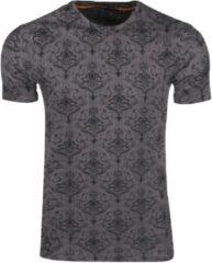 Bruine New Republic Re-gen heren t-shirt print
