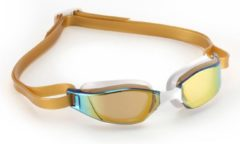 Aqua Sphere Phelps Xceed - Zwembril - Volwassenen - Gold Titanium Mirrored Lens - Goud/Wit