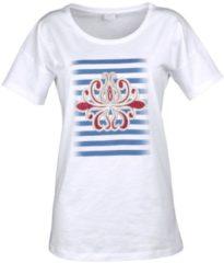 Strandshirt Alba Moda weiß-bunt