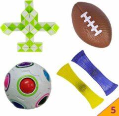 Hobbypainting.nl Pop It Fidget Toys 5 Pakket PopIt Mesh Marble TikTok Speelgoed - Pakket Fidget Toys Kinderen - Kids Fidget Toy - HP.nl®