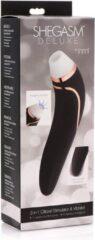Zwarte Inmi Shegasm Deluxe Clitoral Stimulator and Vibe Black OS