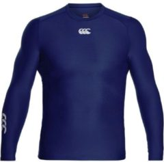 Marineblauwe Canterbury Thermoreg LS Top - Thermoshirt - blauw donker - S