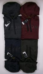 Antraciet-grijze Gibson heren sweater antraciet melange - maat S