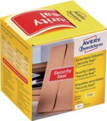 Avery Zweckform 7310 veiligheid verzegeling, 78 x 38 mm, opdruk Security Seal, 1 rol/100 etiketten, rood