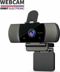 Zwarte Orbit Electronic Orbit - Full HD Webcam 1080P Groothoek Usb Webcam USB2.0 + Statief