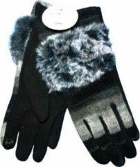 Winter handschoenen SO FOXY van BellaBelga - zwart-grijs