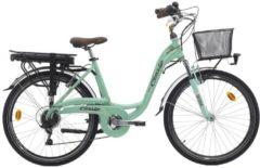 Cicli Cinzia 28 ZOLL ELEKTRO CITY FAHRRAD 7 GANG CINZIA SFERA E-Bike Damen grün