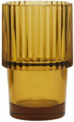 Bruine House Doctor glas Rills (set van 4) (Ø6,8 cm)