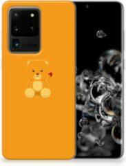 Oranje Samsung Galaxy S20 Ultra Telefoonhoesje met Naam Baby Beer