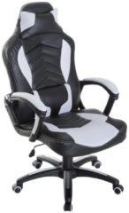 HOMCOM Sportlicher Chefsessel mit Massage- und Wärmefunktion Sportsitz Massagesessel Bürostuhl Massagestuhl Bürosessel Drehstuhl Massage Wärme