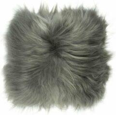 Dutchskins Kussen IJslandse schapenvacht grijs / grijs langharig sierkussen van schapenvacht