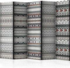 Paarse Kamerscherm - Scheidingswand - Vouwscherm - Ethnic Design II [Room Dividers] 225x172 - Artgeist Vouwscherm