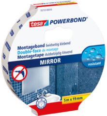 Witte 1x Tesa dubbelzijdig montagetape op rol voor spiegels 5 meter - Klusmateriaal - Huishoudartikelen - Tesa Powerbond - Waterproof - Montagetape - Dubbelzijdig tape