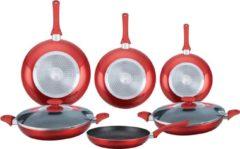 Herzberg Cooking Herzberg HG-6010 Pannenset - 8-delig - marmercoating