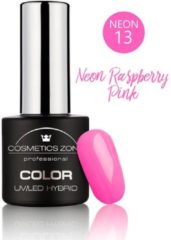 Donkerrode Cosmetics Zone UV/LED Hybrid Gel Nagellak 7ml. Neon Raspberry Pink N13