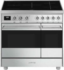 Roestvrijstalen Smeg C92IMX9 inductie fornuis met 2 ovens en 2 MultiZones