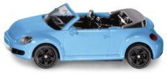 Zwarte Siku VW Beetle convertible 8,3 cm staal lichtblauw (1505)