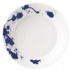 Donkerblauwe Royal Doulton Pacific Splash pastabord 22 cm