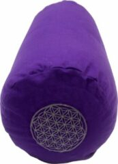 Green Tree Candle Company Yoga Bolster Katoen Canvas - Flower of Life Paars