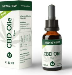 Vitalize Medihemp CBD olie RAW (2,5%) BIO 30ml