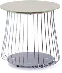 Links Link&acutes Couchtisch Rivoli 50 cm Glas Pantone grau