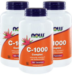 Now Foods Now Vitamine C 1000 Mg Complex Trio (3x 180tab)