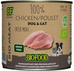 Biofood organic kat 100% kip blik kattenvoer 200 gr