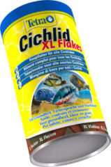 Tetra Cichlid Vissenvoer Vlokken - Chichliden en Grote Siervissen - 500 ml