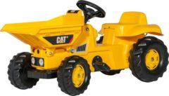 Gele Rolly Toys traptractor RollyKid Dumper Cat junior geel