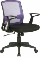 Clp Renton Bureaustoel - Microvezel - Zwart/paars