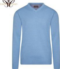 Cappuccino Italia - Heren Sweaters Pullover Sky - Blauw - Maat M