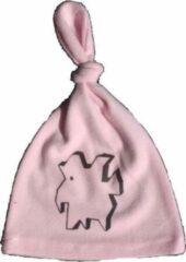 Roze Anha'Lore Designs - Weezel - Babymuts - Roos/zwart