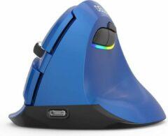 Delux M618 Mini/Medium - Blauw - Draadloos (2,4ghz + Bluetooth) + oplaadbare accu
