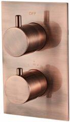 Saniclear Copper complete inbouw thermostaat geborsteld koper