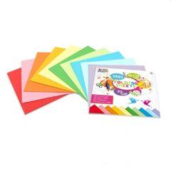 Craft Sensations Vouwblaadjes | 10 x 10 CM | 140 stuks | 70 Gram | 10 verschillende kleuren | papier | knutselen voor kinderen | Origami